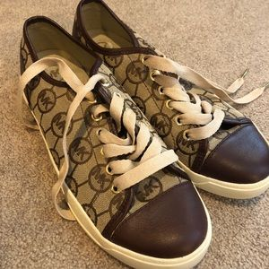 Michael Kors Canvas and Leather Sneakers
